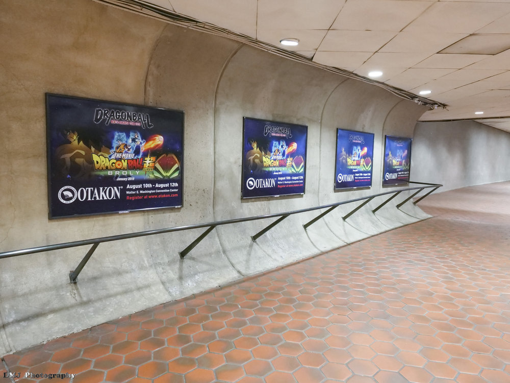 Dragon Ball Tour / Otakon advertisement posters at the Metro Station
