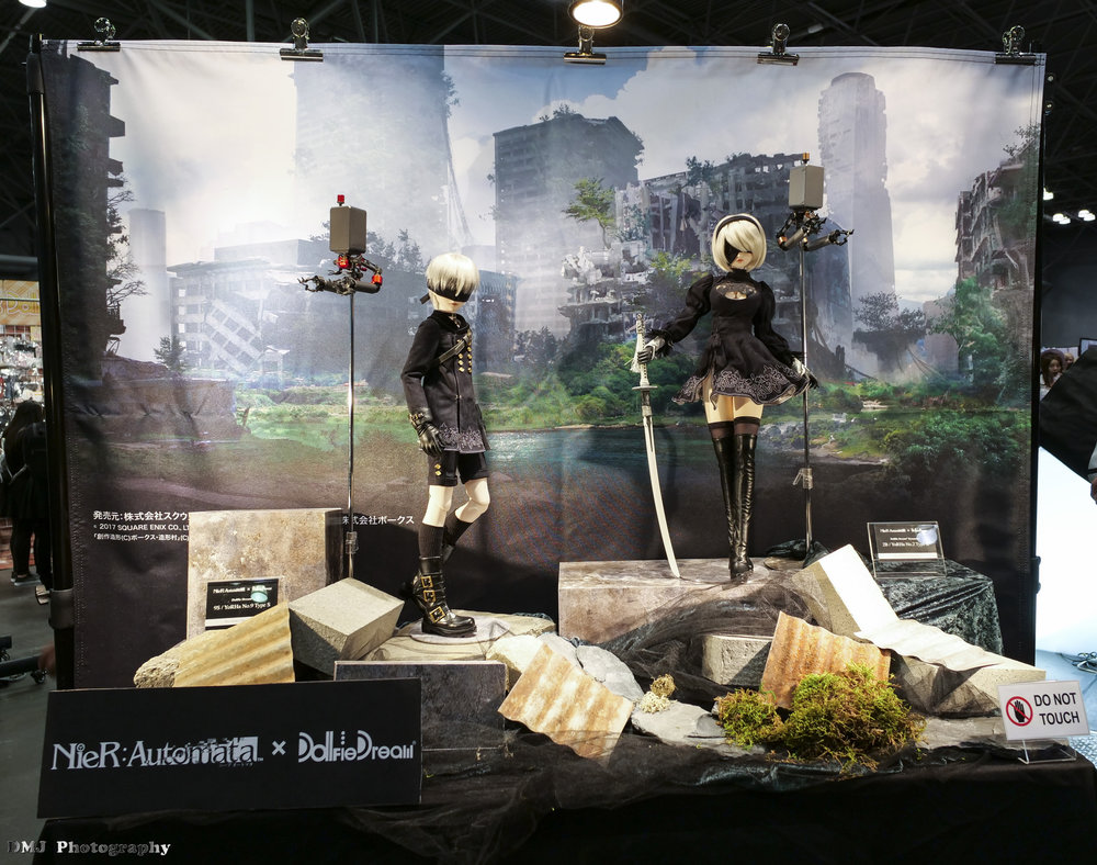 NieR: Automata Dollfies on display in the Exhibit Hall