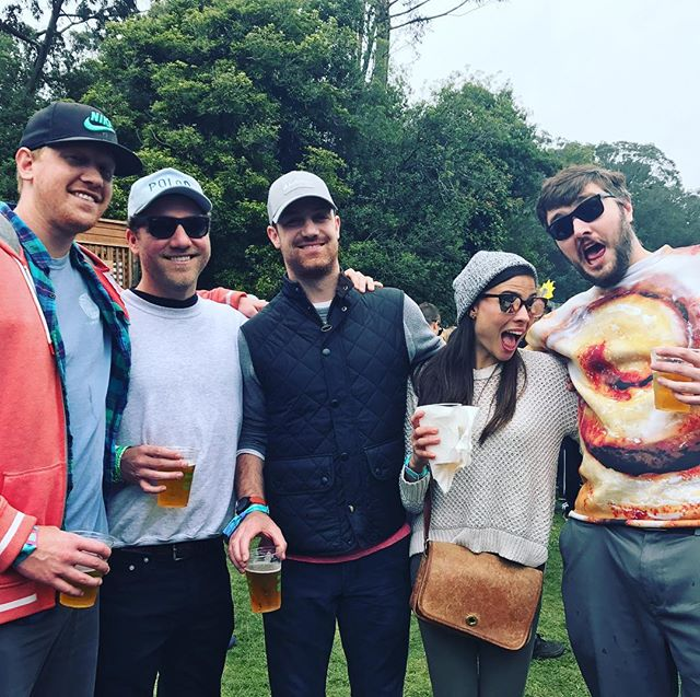 Uncle Nick visits! #outsidelands #cinnamonroll