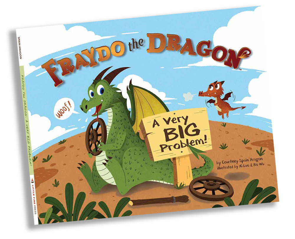 Title:  Fraydo the Dragon: A Very Big Problem!   Retail:  $18.95   Series:  Fraydo the Dragon   Audience:  Ages Silly to Super Silly   Hardcover:  40 pages with Dust Jacket   Publisher:  Little Fire Press; 1st edition (2016)   First Edition:  2016:  Copyright  2014   Printed:  Phoenix Color in Hagerstown, MD USA   Language:  English   ISBN-10:  1944349502   ISBN-13:  978-1944349509   Publisher's Cataloging-in-Publication Data:  Available   LCCN:  2015917453   Product Dimensions:    12.1 x 9.1 x 1 inches   Shipping Weight:  1.4 pounds