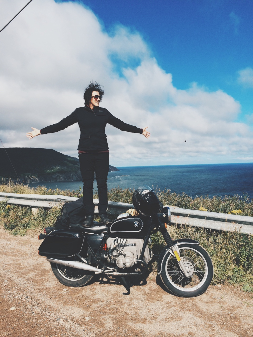There's been a lot of buzz surrounding the women who ride lately, and while they are all badass in their own right, none of them are quite as badass as Nashville's own Yve Assad.    In August of 2014 Yve embarked on a solo ride from Nashville to Nova Scotia, covering 5136 miles on a 1976 BMW R90/6.    The trip took 29 days, crossed 14 States & 3 Canadian Provinces (Quebec, New Brunswick, Nova Scotia), and included 5 ferry crossings, with the ultimate goal of reaching the northernmost point on Cape Breton, known as Meat Cove.     90% of Yve's time was spent on back roads, avoiding highways & camping wherever she could find shelter. Except for a broken speedometer & a couple of sore shoulders, both Yve & the bike made it home unscathed but forever changed.     As the only female member of the Blackbird Assembly, Yve stands strong among the boys not only as a rider, but an incredible artist as well. Following this feature, we will be showcasing some of Yve's photography in our first Atlas Takeover.