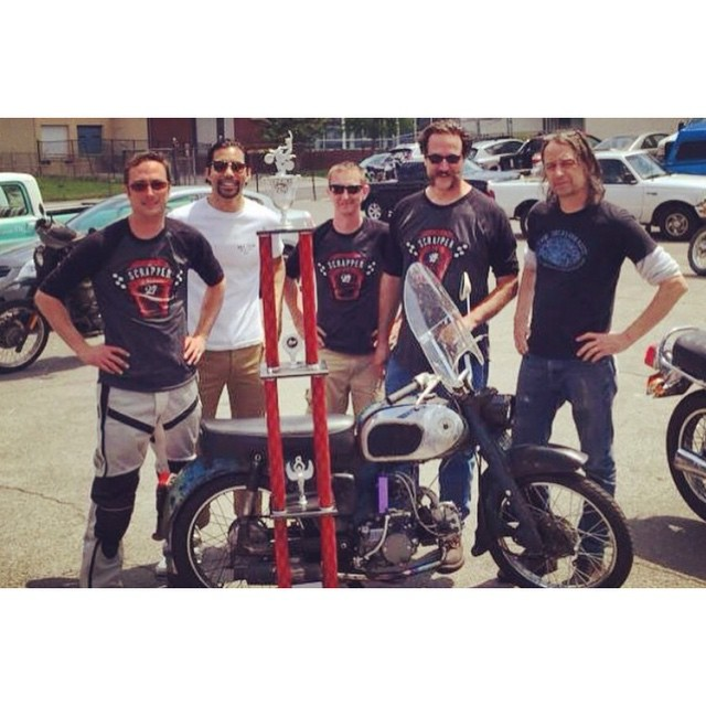And the winner is….. Team Ram Jam II! We did 997 miles in 24 hours on this little guy! #honda #motorcycles #ca200 #lifan