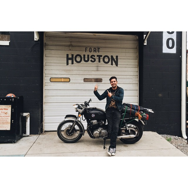 Thanks @graphographics for dropping by on your soul searching adventure! Hope you enjoy the #longwayaround #Nashville #southernhospitality #atlasmoto #forthouston  (at Fort Houston)