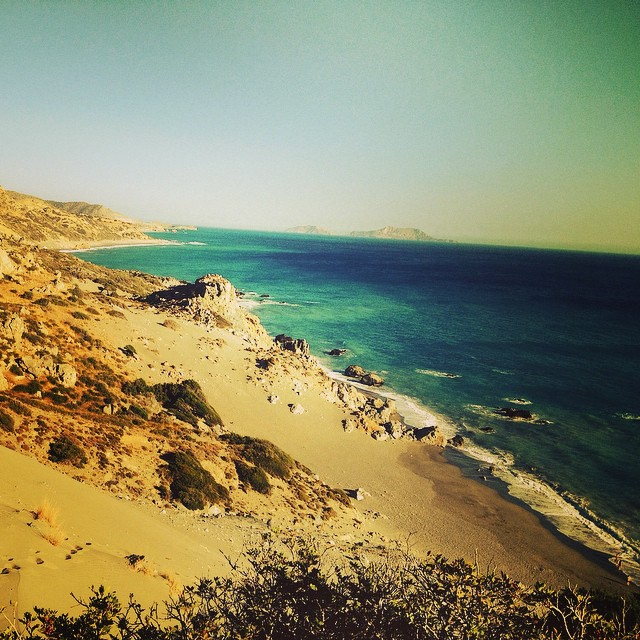 Looking towards Ligres Beach, South Crete