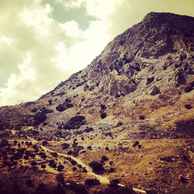 Hiking near Drimiskos, Crete