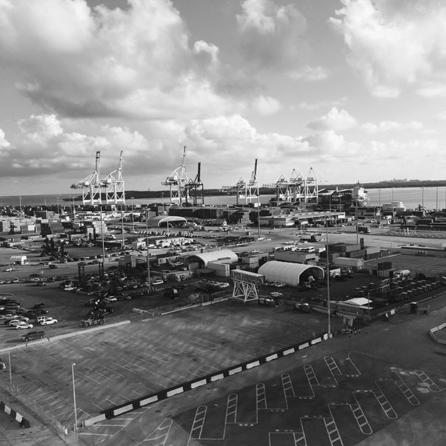 Afternoon at port of Miami