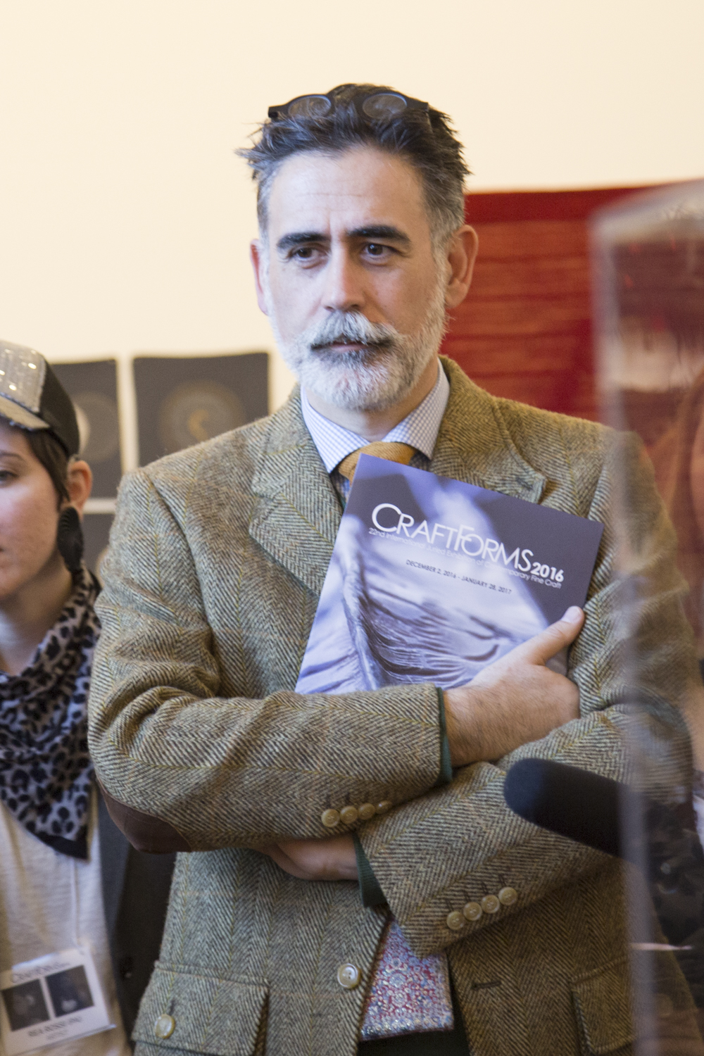 Stefano Catalani, Juror, holding the catalog for the show... wonderful surprise to see that my piece was on the cover!