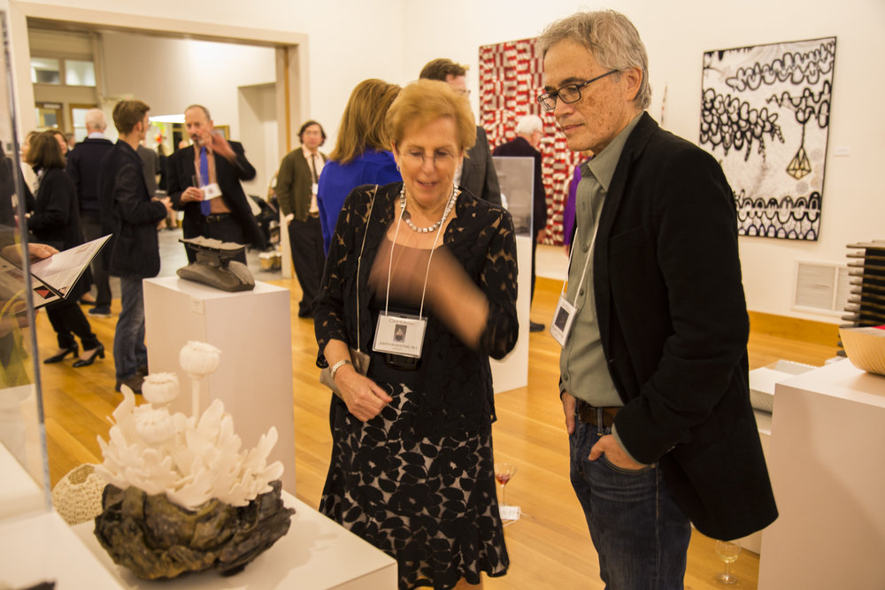 Artist Judith Rosenthal (NJ),  Poppy,  with artist William R. Sulit (PA)