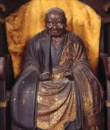 Statue of Zenmaster Hakuin in Numazu, Japan