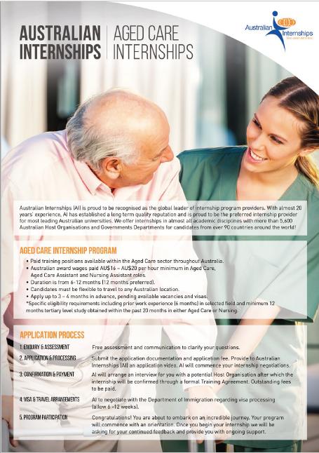 Aged Care and Nursing Internship Program