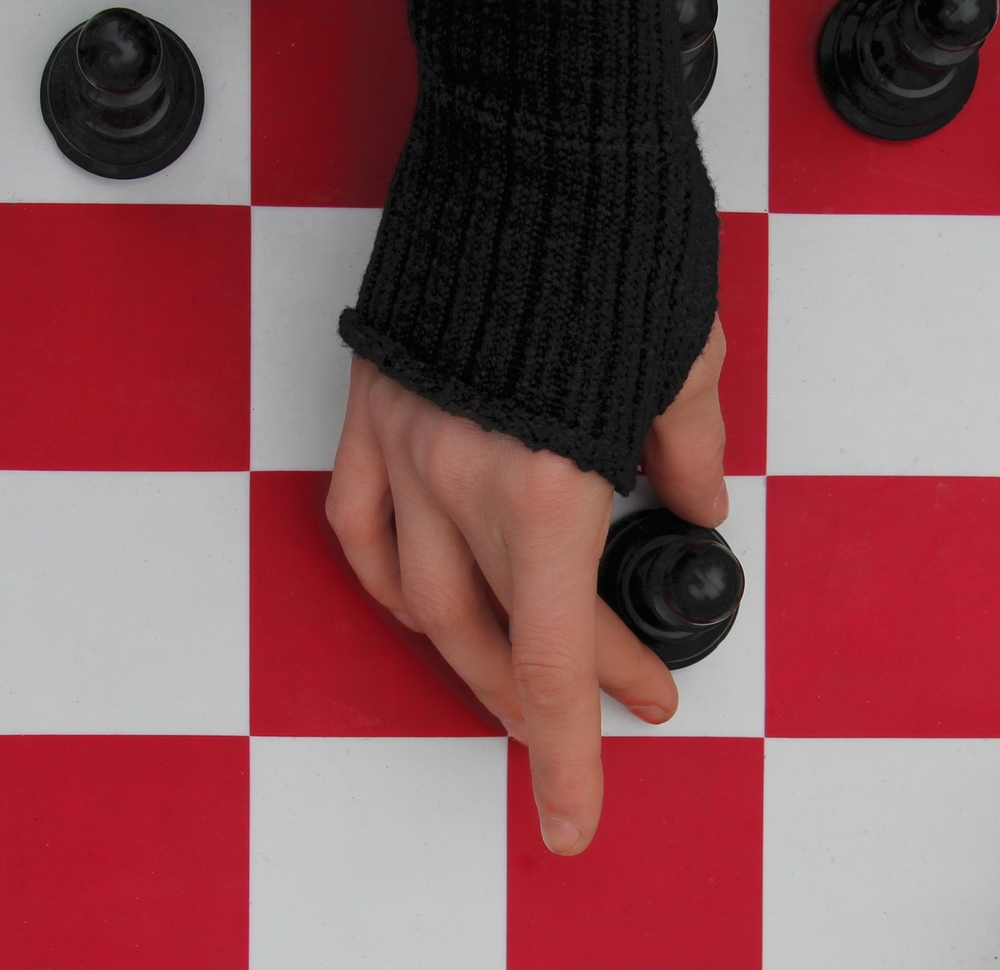 Coffee & Chess in Union Square -     scarf, armwarmer and headband   by KD