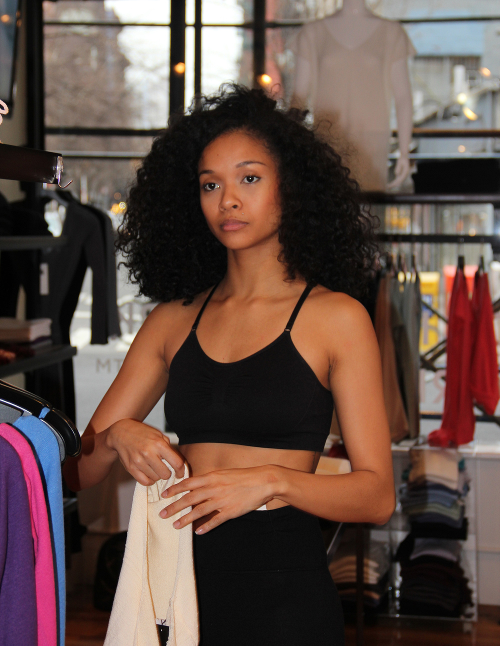Kimberely, Model and Dancer at the  KD New York Boutique  (339 Lafayette @ Bleecker)