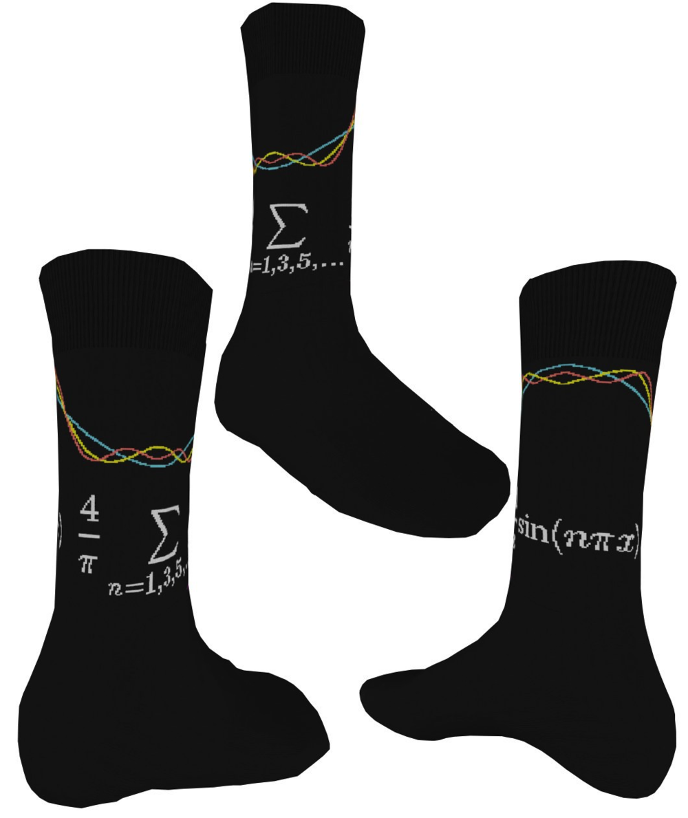 Fourier series socks: $15