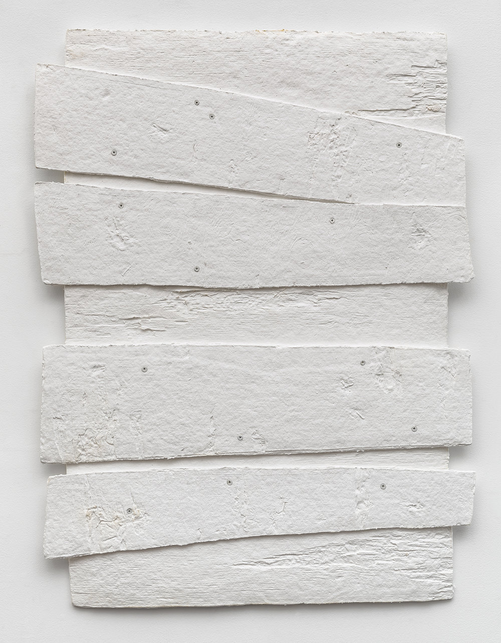 Diana Shpungin   Don't Let The Light In 4 (White) , 2018  Casting cotton paper pulp, linen paper   34 x 27 x 1 inches  Image copyright and courtesy of Etienne Frossard.