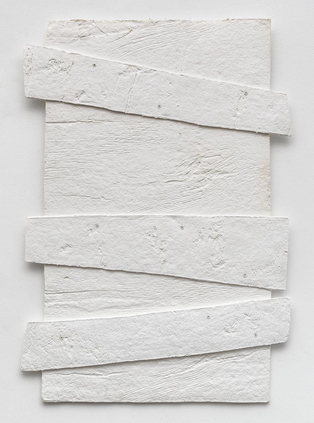 Diana Shpungin   Don't Let The Light In 3 (White) , 2018  Casting cotton paper pulp, linen paper   34 x 27 x 1 inches  Image copyright and courtesy of Etienne Frossard.