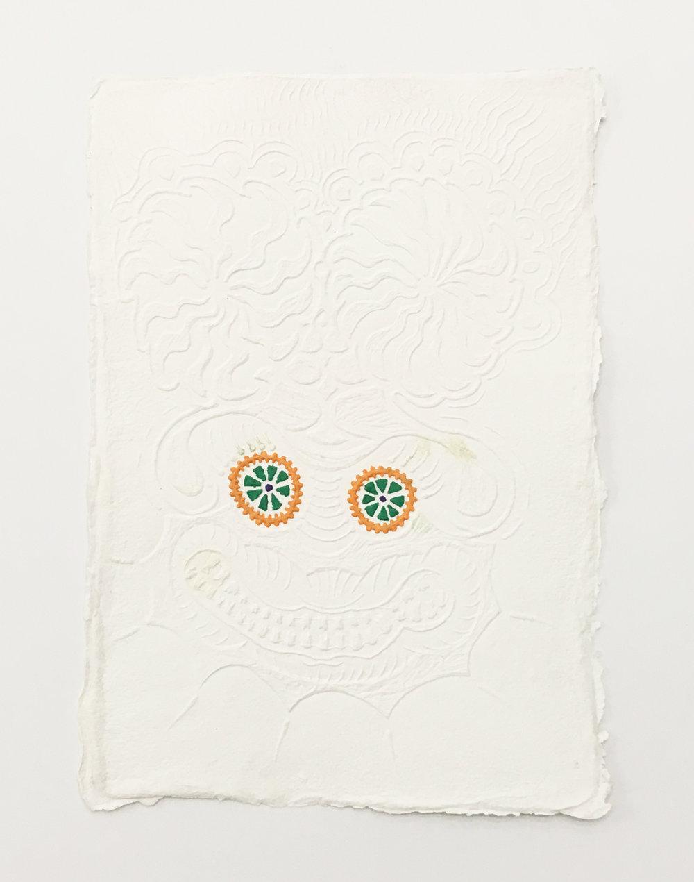 Daniel Wiener   Cankered White , 2017  Paper pulp
