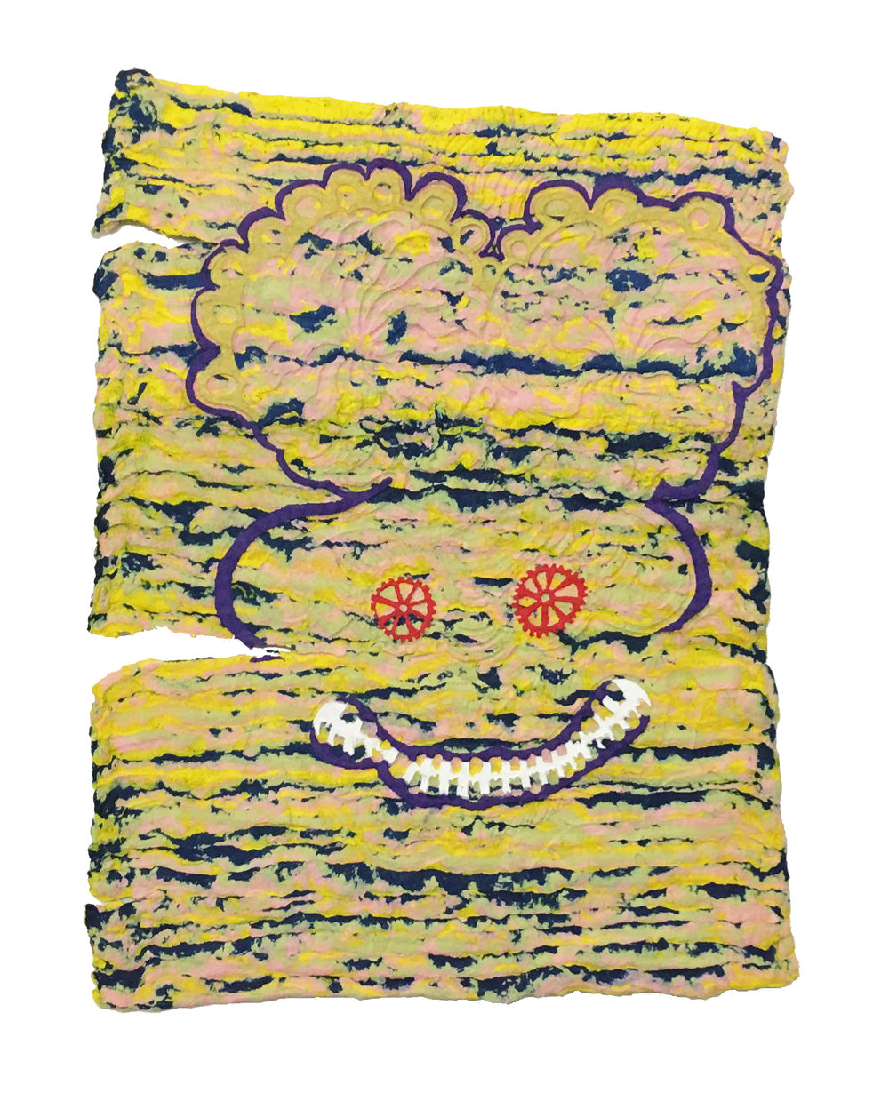 Daniel Wiener   Cannot Sing a Single Note , 2017  Paper pulp