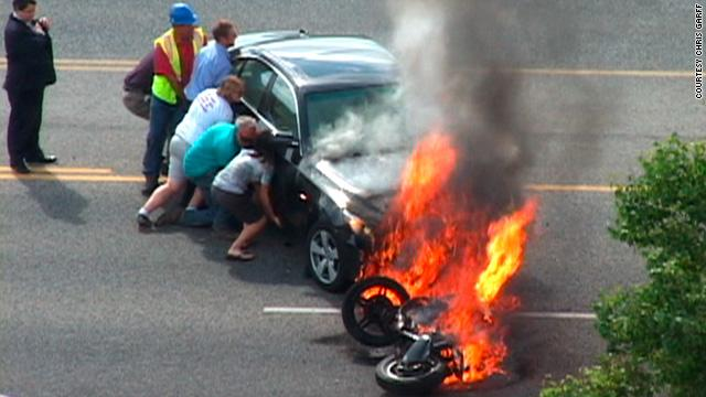 """I'm trapped in a burning fucking car! I'm in a Primal moment here: I'm really fucking dependent on you guys saving my ass!!"""
