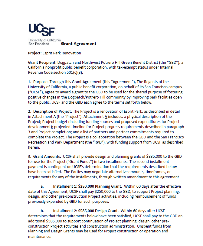 UCSF-GBD Contract