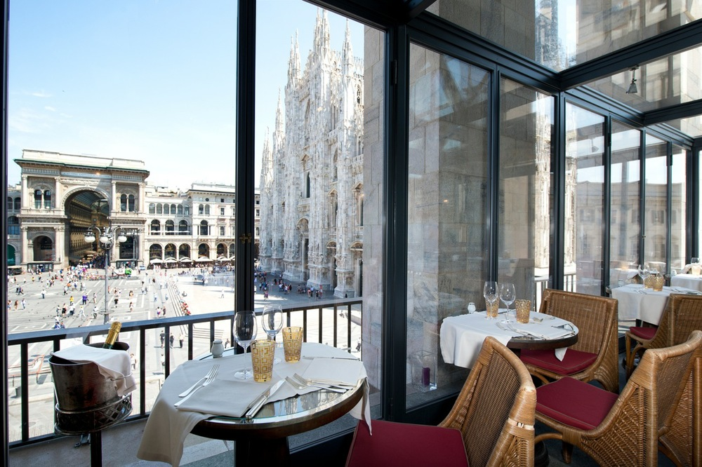 The view from Ristorante Giacomo Arengario