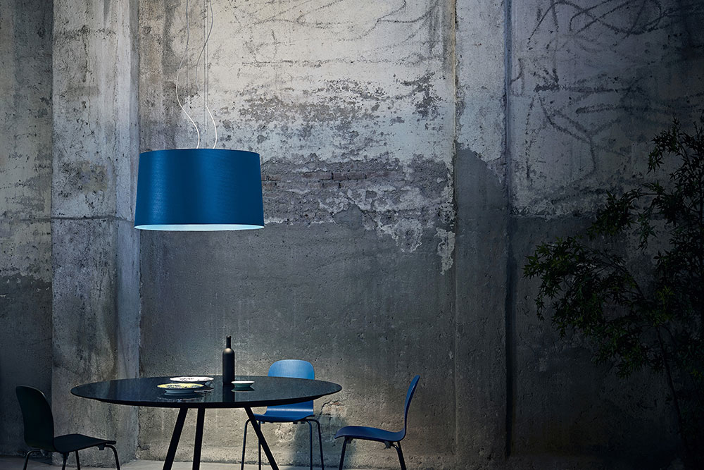 The suspension version of the new Twice as Twiggy light by Foscarini.