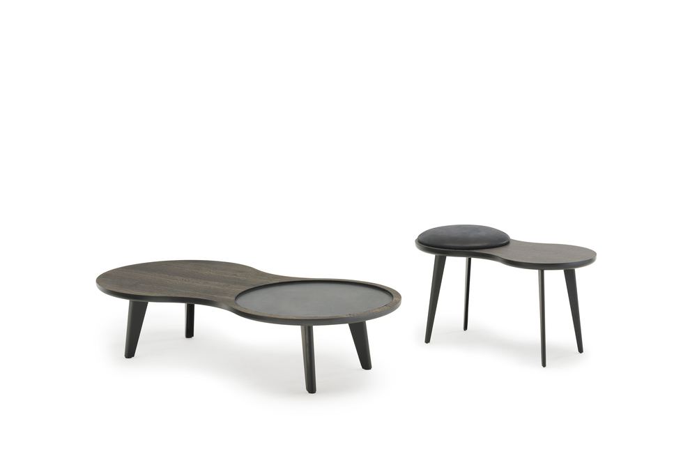 The Imago tables double as occasional tables and stools.