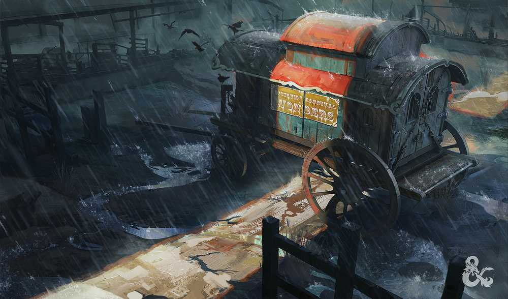 Old Carnival Wagon - Dungeons & Dragons: Curse of Strahd