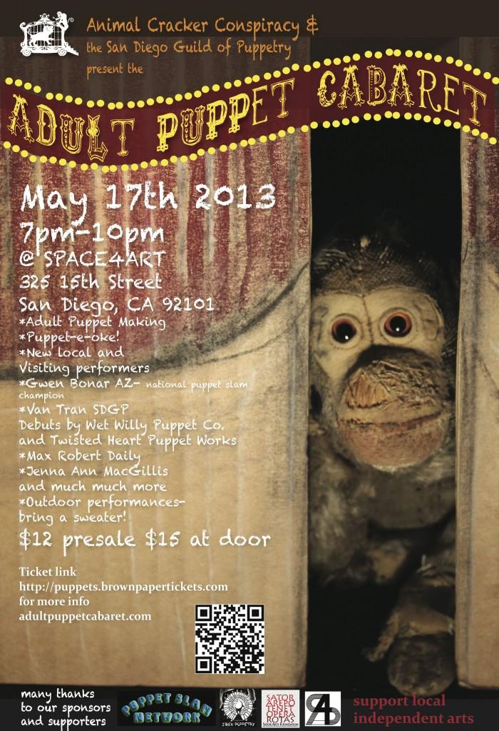 Adult Puppet Cabaret Poster