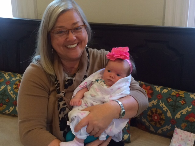 Midwife Susan Schmidt with Baby Eloise