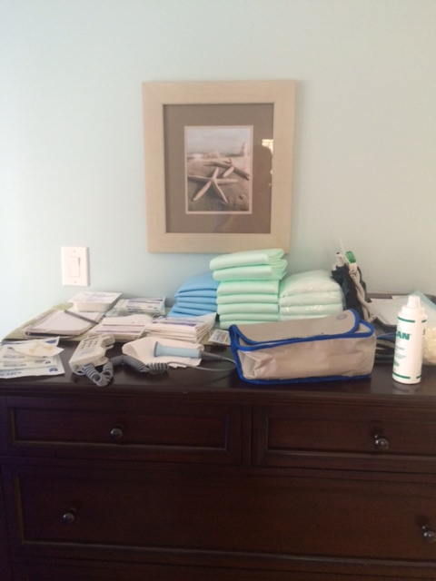 Homebirth supplies ready!
