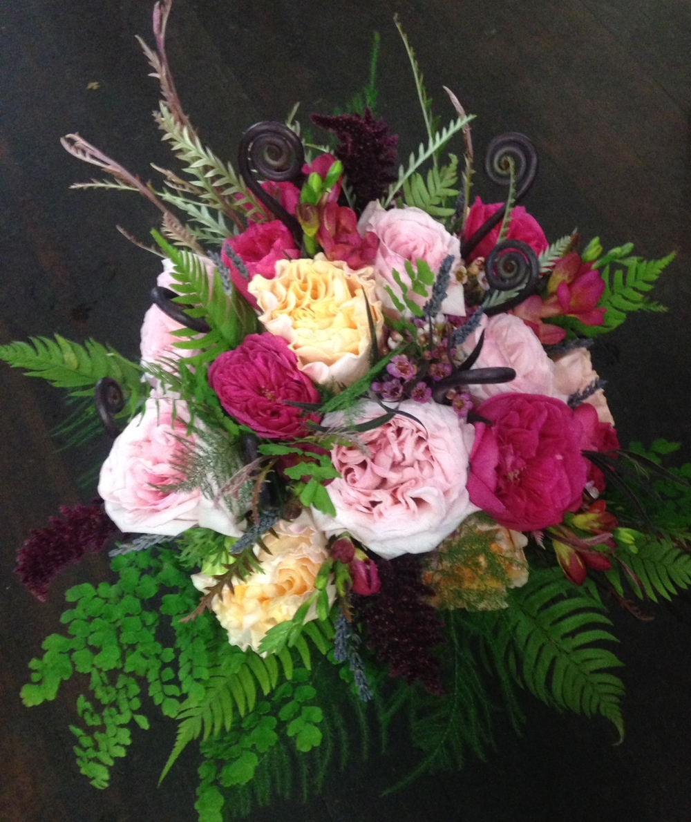 37. Garden Roses and Forest Ferns
