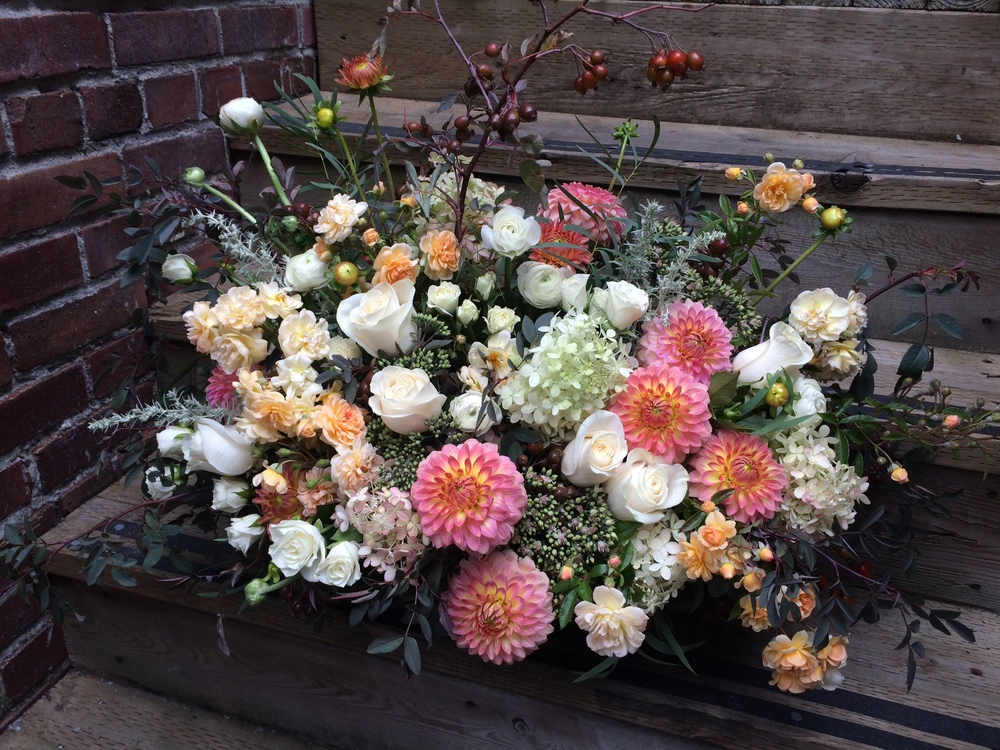 14. Showstopper Coral and Peach Nature Bouquet