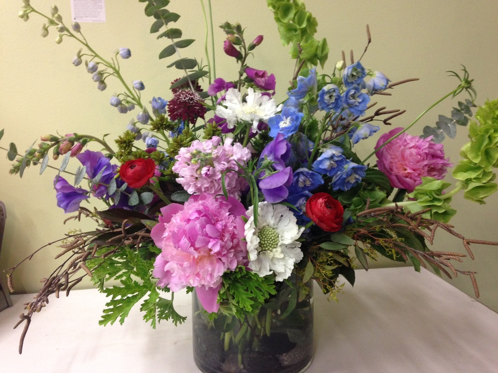 21. Blue, Pink, White Wilderness Grand Centerpiece