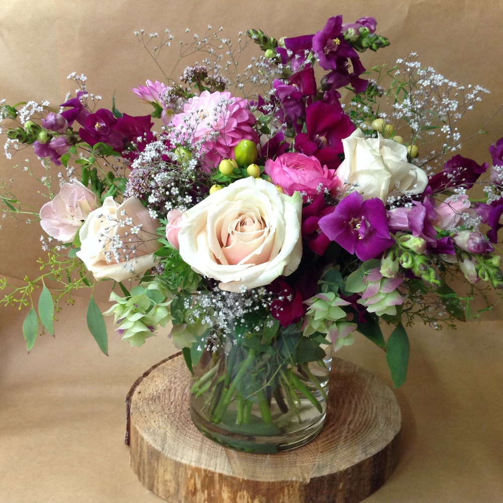23. Neutral Purple Whimsical Bouquet