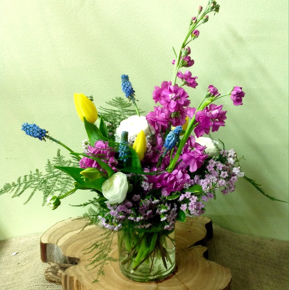 25. Seasonal Multi Color Grape Hyacinth Bouquet