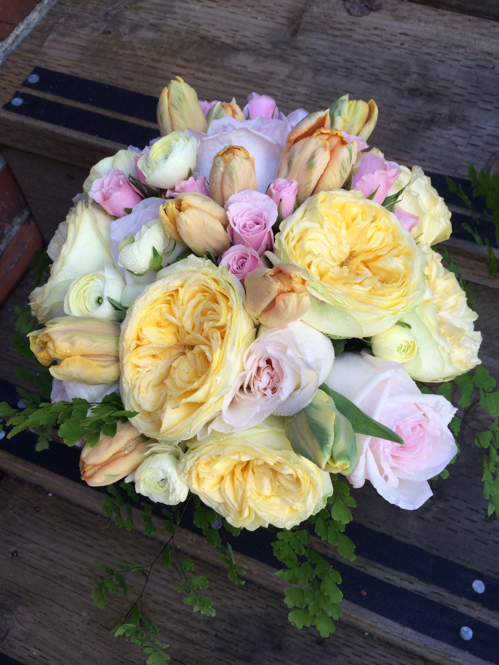 30. Pale Yellow and Cream Rounded Bouquet