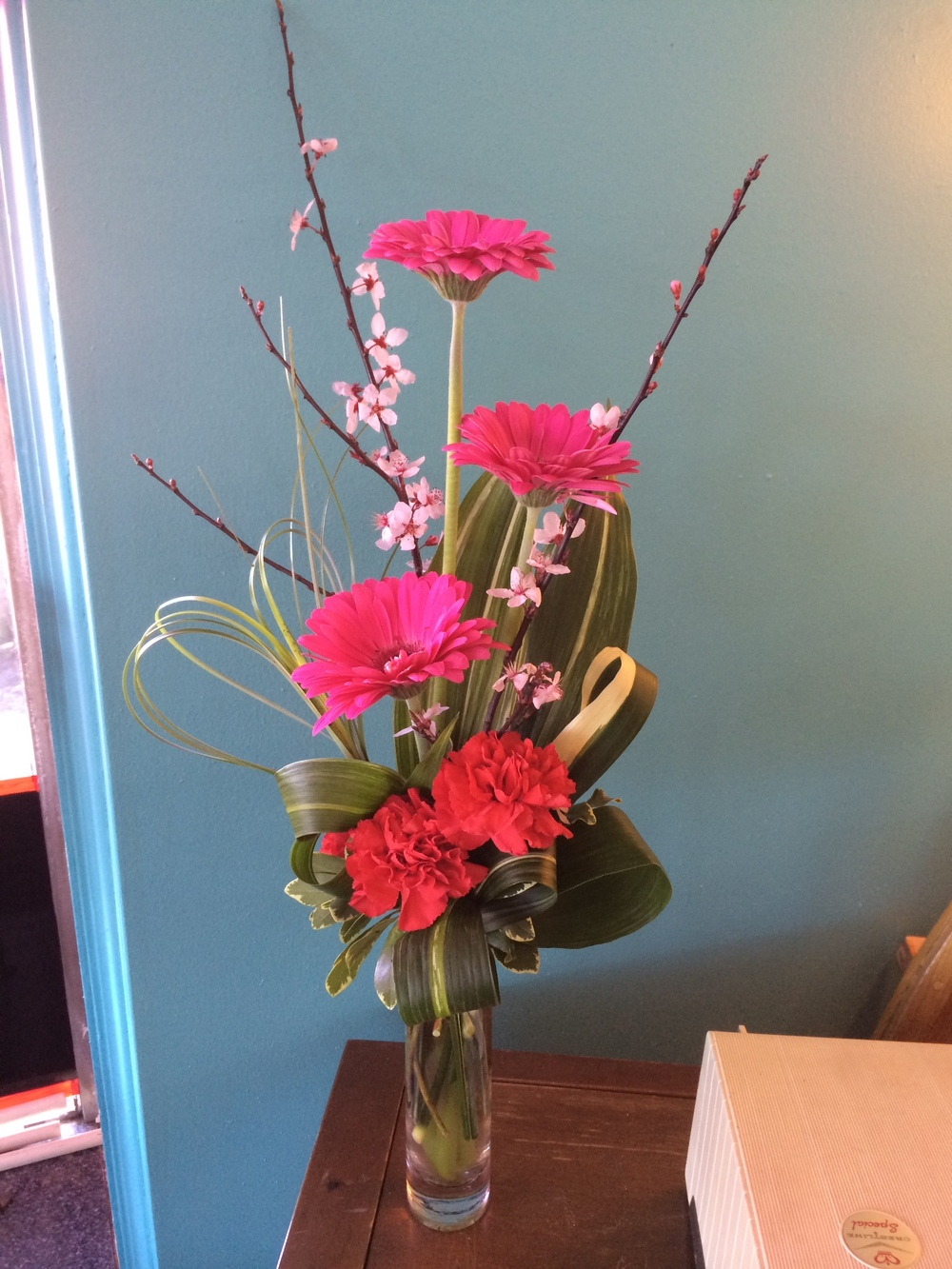 32. Hot Pink Gerbera Bud Vase Bouquet