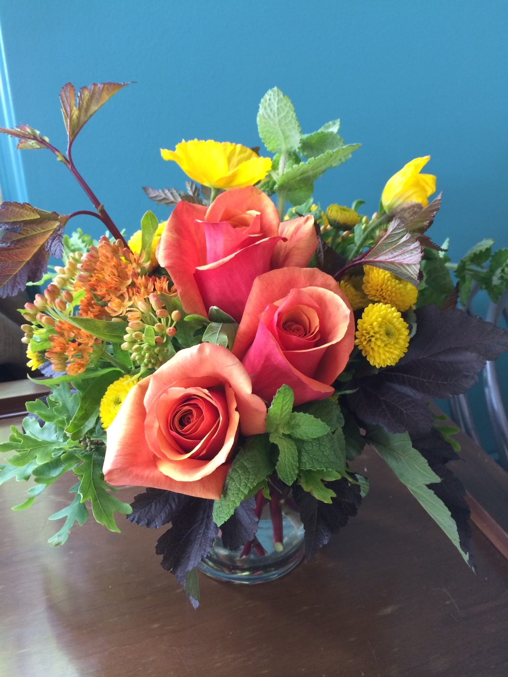 49. Petite Spring Arrangement in Orange and Yellow