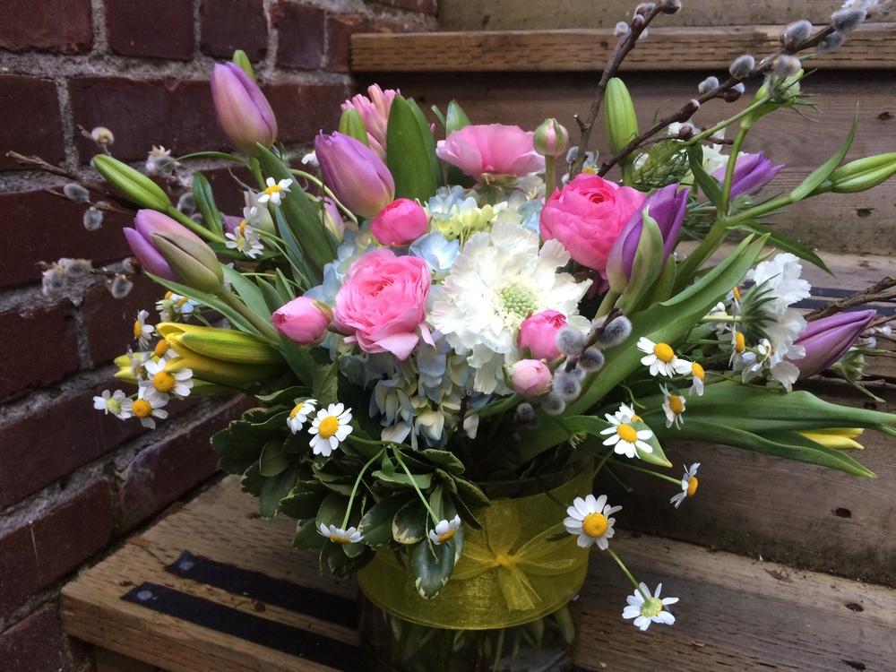 55. Sweet Spring Vase in Pastels
