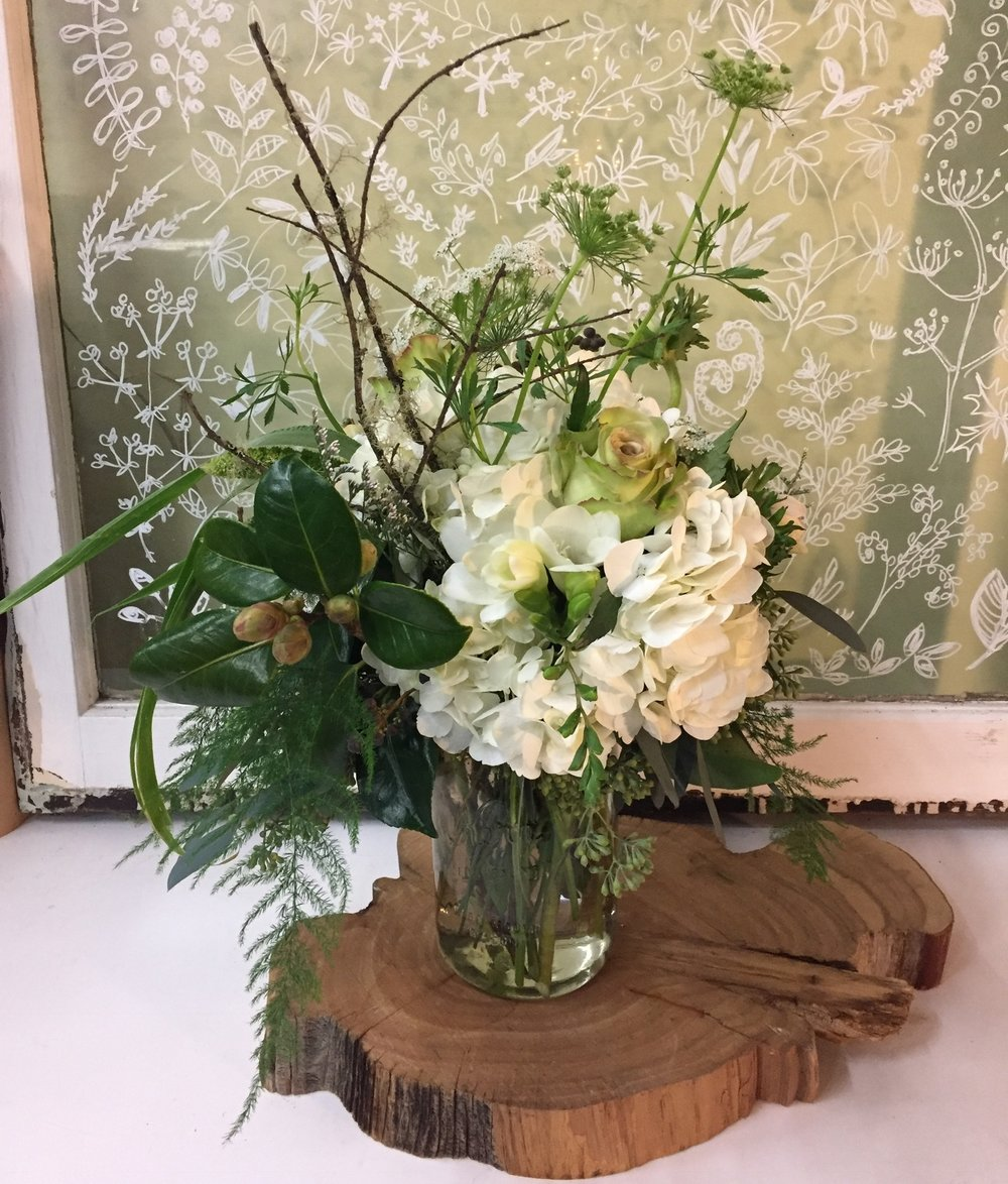 73. Natural and Rustic in Whites and Greens