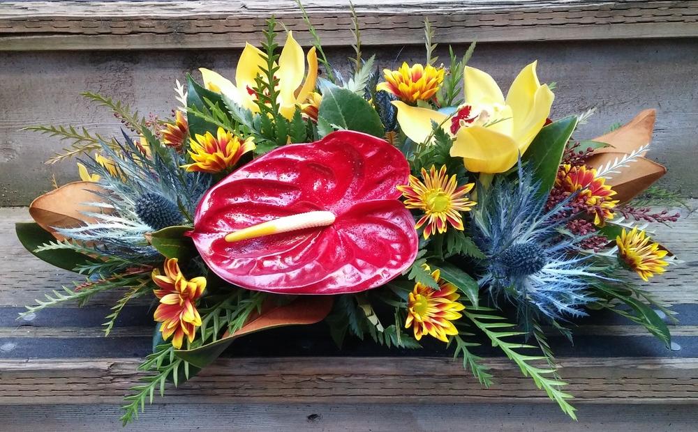 4. Tropical Fall Centerpiece
