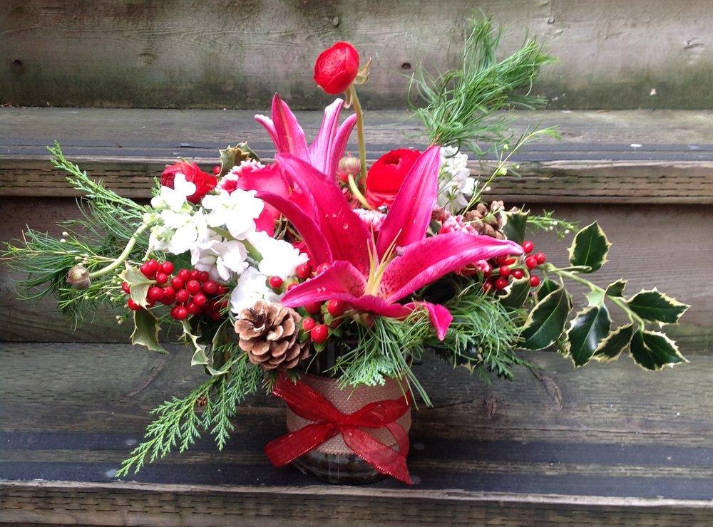 11. Bright Holiday Arrangement