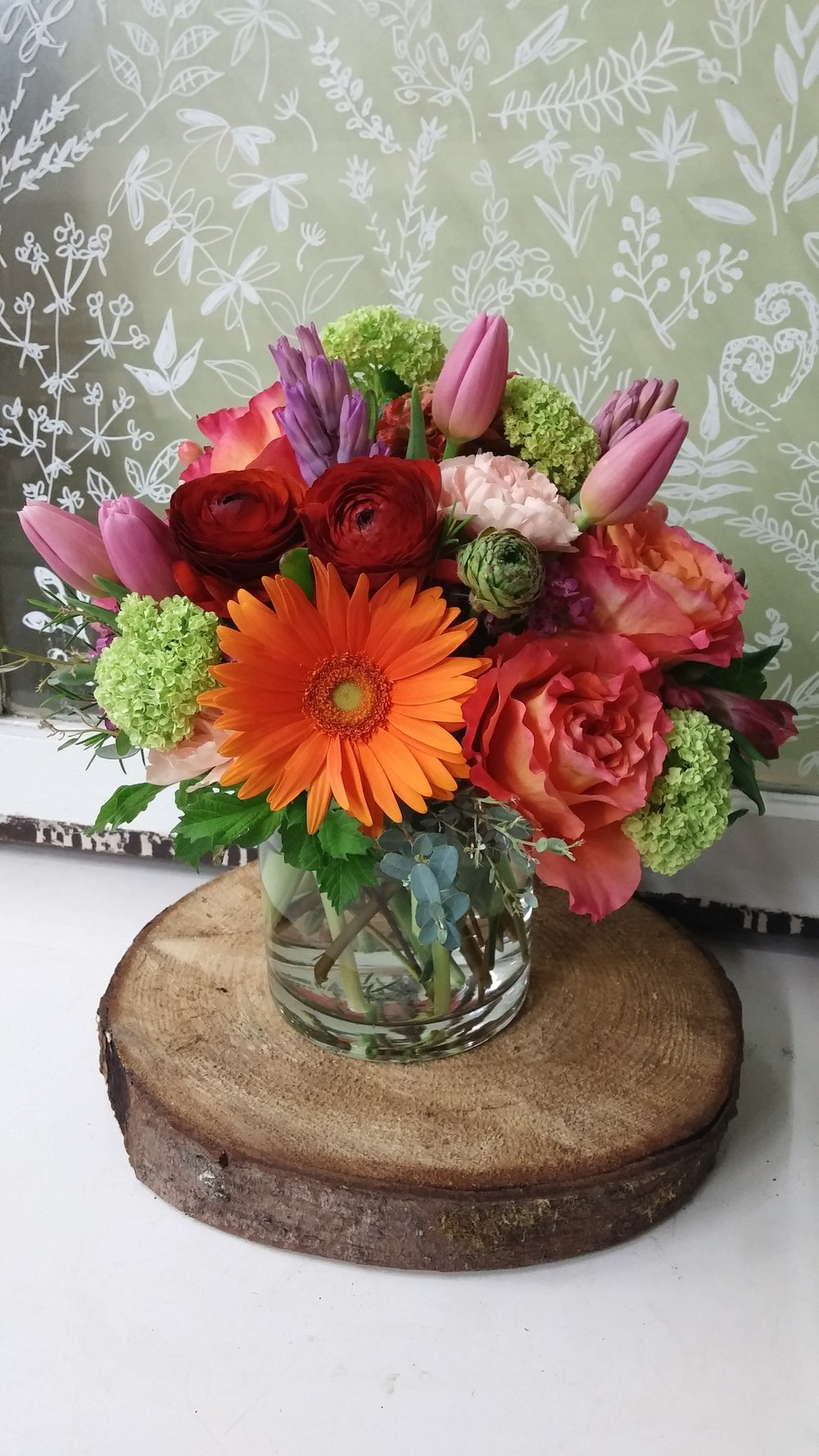 5. Summer bouquet mix in orange, rust and green