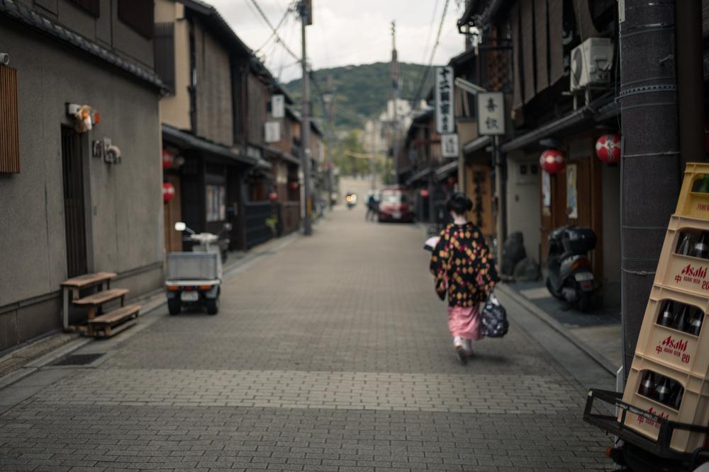 Fleeting Maiko, Gion, Kyoto.