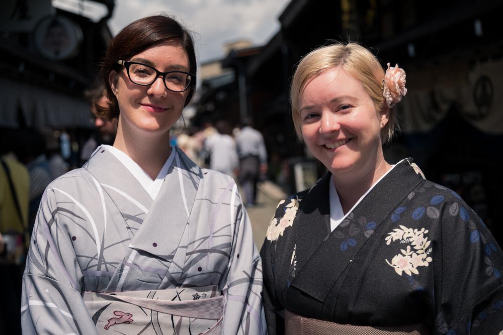 Australian friends in Takayama.