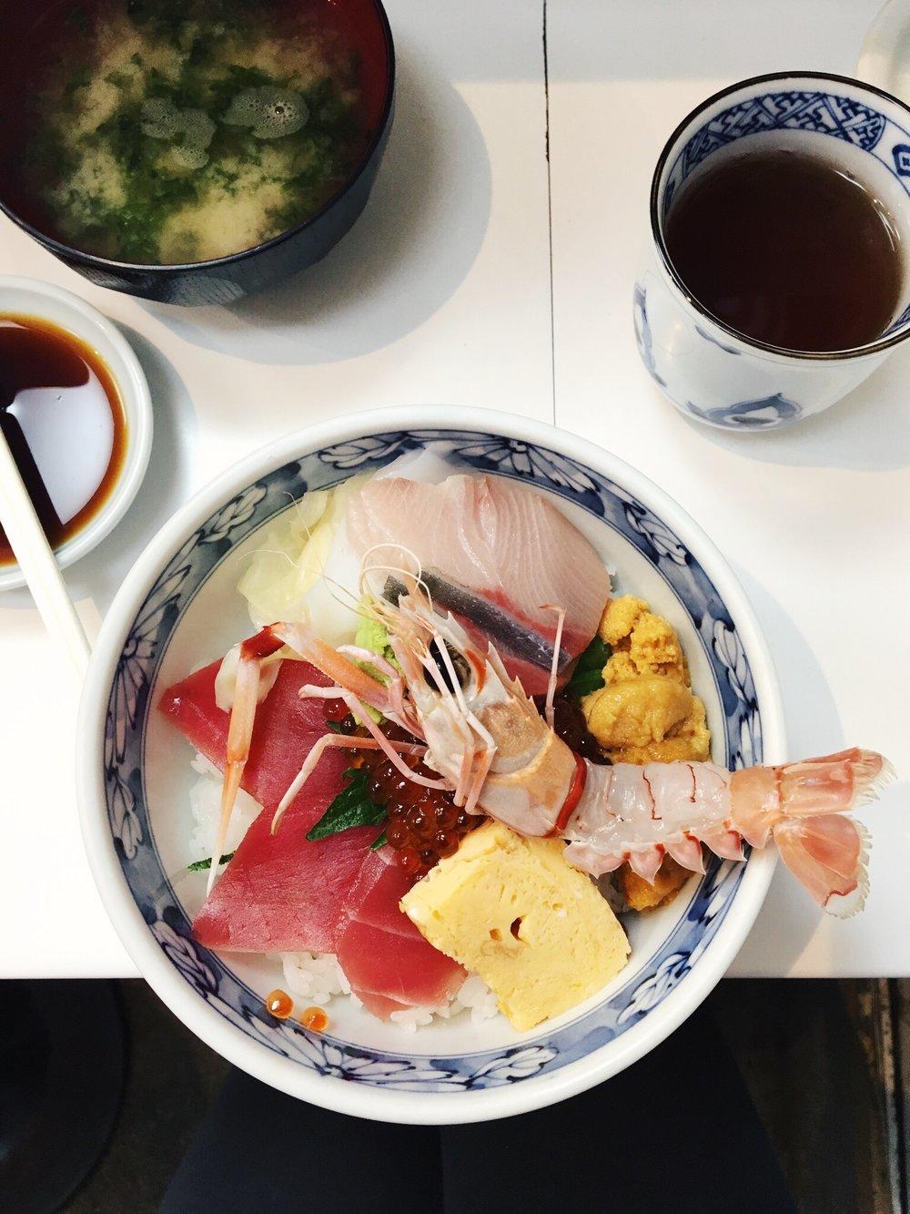 Breakfast at Tsukiji