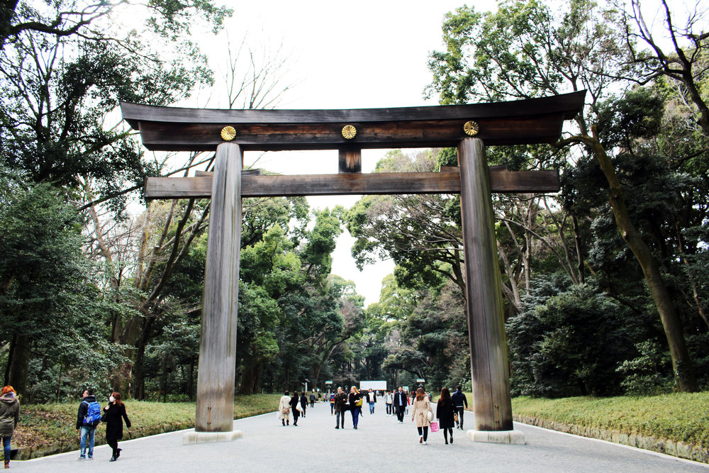 Technically this is Meiji Shrine (next to Yoyogi), we didn't take pictures at Yoyogi Park ><