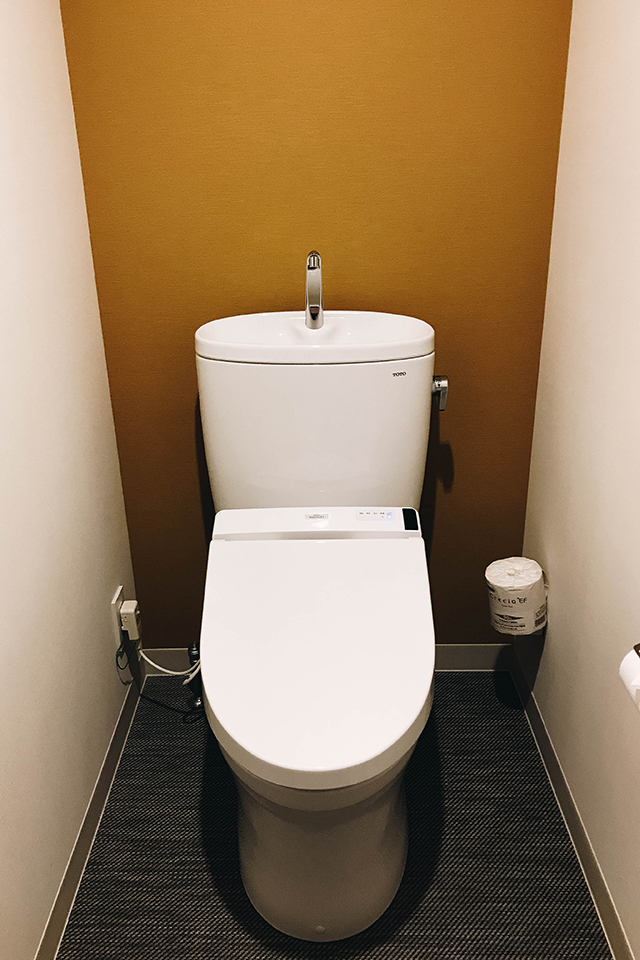 Separate room for the toilet.