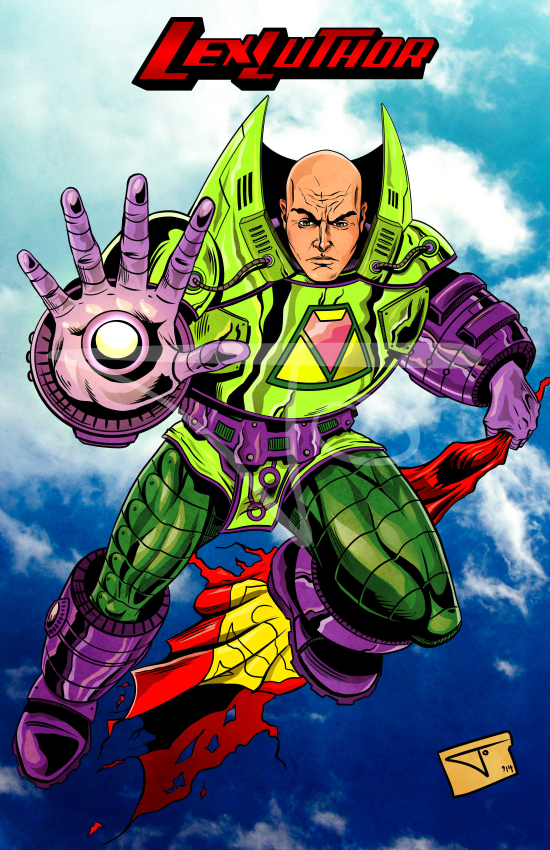 Lex Luthor with battle armor