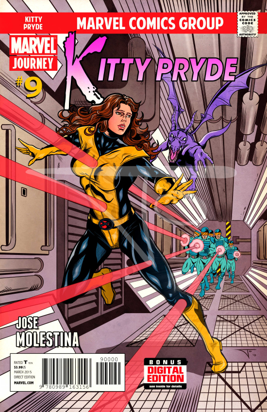 Kitty Pryde with Lockheed